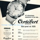 Vintage 1952 Cortebert Spirofix Watch Advert 1950s Swiss Print Ad Suisse Switzerland