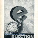Vintage 1952 Election Grand Prix Watch Advert 1950s Swiss Ad Publicite Suisse Switzerland
