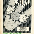 Vintage 1952 Heuer Watch Company Ed Heuer & Co SA Switzerland 1950s Swiss Ad Advert Suisse