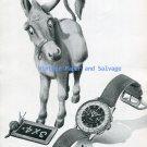Vintage 1945 Breitling Chronomat Donkey Advert Original Swiss Print Ad Breitling Watch Company