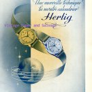 Charles Hertig Watch Exportation Company Switzerland 1945 Swiss Print Ad Advert Suisse