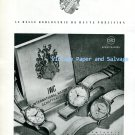 IWC International Watch Company Switzerland Vintage 1945 Swiss Print Ad Advert Suisse