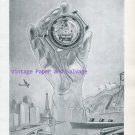 Ogival Automatic Watch Advert Switzerland Vintage 1945 Swiss Print Ad Suisse Schweiz 1940s