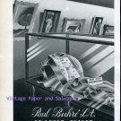 Paul Buhre Watch Company Switzerland Vintage 1945 Swiss Print Ad Advert Suisse 1940s