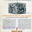 Vintage Rolex Watch Company 8.4 Points at Neuchatel Original 1945 Swiss Print Ad