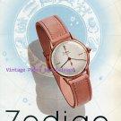 Zodiac Watch Company La Ponctualite d'une Astre Vintage 1945 Swiss Ad Advert Suisse 1940s