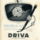 Driva Watch Company Geneva Switzerland Vintage 1952 Swiss Ad Advert Suisse Scweiz 1950s