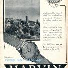 Vintage 1952 Marvin Watch Company Switzerland Original 1950s Swiss Ad Advert