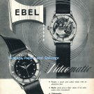 1952 Ebel Videomatic Watch Advert Vintage 1950s Swiss Print Ad Advert Suisse Switzerland