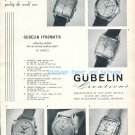 1952 Gubelin Ipsomatic Watch Advert Ipso Timemaster Vintage 1950s Swiss Print Ad  Suisse Switzerland