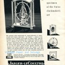 Vintage 1952 Jaeger-LeCoultre Lantern Table Clock Advert Swiss Print Ad Suisse 1950s