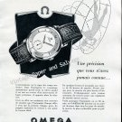 1952 Omega Automatic Watch Advert Swiss Print Ad Publicite Suisse Omega Watches CH