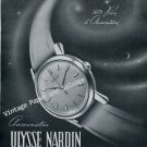 Vintage 1952 Ulysse Nardin Watch Company Le Locle Switzerland 1950s Swiss Print Ad Suisse