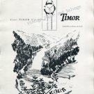 1952 Timor Watch Company La Chaux-de-Fonds Switzerland Swiss Print Ad Suisse