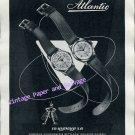 Vintage 1952 Atlantic Watch Company Ed Kummer SA Switzerland 1950s Swiss Ad Advert Suisse
