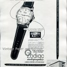 Vintage 1952 Zodiac Autographic Watch Advert 1950s Swiss Print Ad Suisse Switzerland