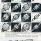 1952 Montres National SA Watch Company Switzerland Vintage 1950s Swiss Print Ad Suisse