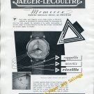 Vintage 1952 Jaeger-LeCoultre Memovox Wrist Watch Advert 1950s Swiss Print Ad Switzerland