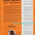 Vintage 1952 Rolex Watch Company Montres Rolex SA Switzerland 1950s Swiss Print Ad Advert Suisse