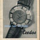 1952 Credos Watch Company Bienne Switzerland Vintage 1950s Swiss Print Ad Advert Publicite Suisse