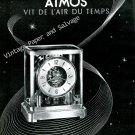 Vintage 1946 Jaeger-LeCoultre Atmos Clock Advert Vit de L'Air du Temps 1940s Swiss Print Ad Suisse