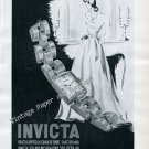 Vintage 1946 Invicta Watch Company La Chaux-de-Fonds Switzerland 1940s Swiss Print Ad Advert Suisse