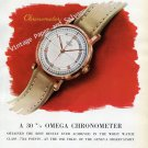 Omega Watch Company The Most Accurate Wrist-Watch of 1945 Vintage 1946 Swiss Print Ad Advert Suisse