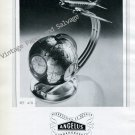Vintage 1946 Angelus Stolz Freres SA Clock Company Switzerland 1940s Swiss Print Ad Advert Suisse