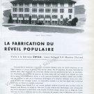 1946 Swiza Clock Company Louis Schwab SA Moutier Suisse Switzerland Visite a la Fabrique Swiza