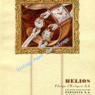 1946 Helios Watch Company Switzerland Vintage 1940s Swss Ad Advert Suisse Schweiz