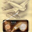 1946 Buren Watch Company Switzerland Vintage 1940s Swiss Ad Advert Suisse Schweiz Suiza