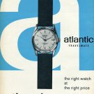 1959 Atlantic Travelmate Watch Advert Ed Kummer SA Swiss Print Ad Publicite Suisse