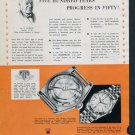 Vintage 1951 Rolex Watch Co Five Hundred Years of Progress 1950s Swiss Ad Advert Suisse Switzerland