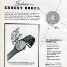Vintage 1950 Ernest Borel Sahara Watch Advert Swiss Ad Advert Suisse Switzerland
