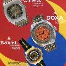 1973 Synchron SA Watch Co Ernest Borel Doxa Cyma Switzerland Swiss Ad Advert Suisse CH