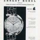 1959 Ernest Borel Watch Company 100th Anniversary Vintage Swiss Ad Advert Suisse Switzerland