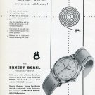 Ernest Borel SA Watch Co Incastar Incabloc Vintage 1950 Swiss Ad Advert Suisse Switzerland