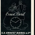 Vintage 1947 Ernest Borel Watch Co Switzerland Swiss Ad Advert Suisse CH 1940s