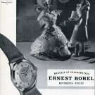 Vintage 1951 Ernest Borel Watch Company Switzerland 1950s Swiss Print Ad Advert Suisse CH