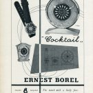 1956 Ernest Borel Watch Company Vintage 1956 Swiss Ad Suisse Advert Neuchatel Switzerland