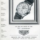 1951 Heuer Watch Company Bienne Switzerland 91st Anniversary Swiss Ad Advert