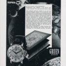 1958 Gruen Super-G Watch Advert Gruen Geneve Switzerland Swiss Print Ad Suisse
