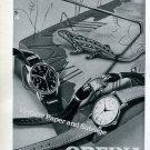 Orfina Watch Company Grenchen Switzerland Vintage 1946 Swiss Ad Advert Suisse 1940s