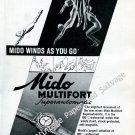 Mido Multifort Superautomatic Watch Advert Vintage 1946 Swiss Ad Advert Suisse 1940s