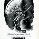 Longines Switzerland Record de Precision Vintage 1946 Swiss AdAdvert Suisse 1940s Switzerland