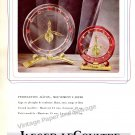 Jaeger-LeCoultre Geneve Switzerland Vintage 1946 Swiss Ad Advert Suisse 1940s 2-sided