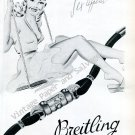 Breitling Sex Appeal Vintage 1946 Swiss Ad Advert Suisse 1940s Switzerland Breitling Watch Co