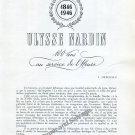 Ulysse Nardin Watch Co 100 Years L Defossez 100 Ans au Service de l'Heure 1846- 1946