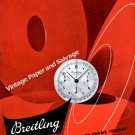 Breitling Watch Company G-Leon Breitling SA Switzerland Vintage 1946 Swiss Ad Advert Suisse 1940s