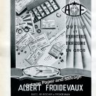 1940s Albert Froidevaux Switzerand Vintage 1946 Swiss Print Ad Publicite Suisse Horology Horlogerie